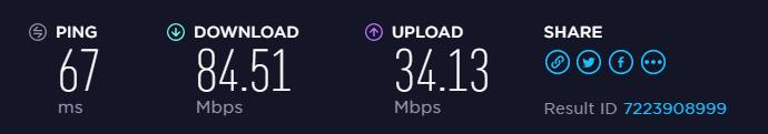 F-Secure Freedome VPN speed test to EU