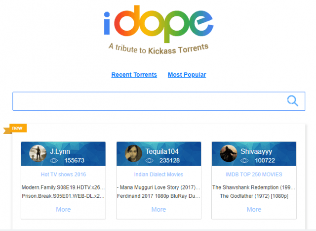 iDope torrent site