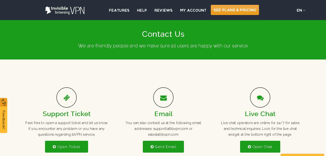 ibvpn homepage