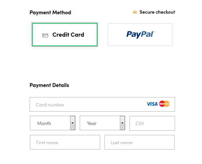 SurfEasy payment screen