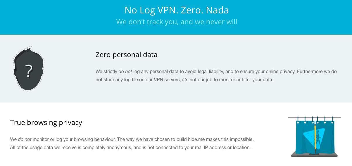 no log policy