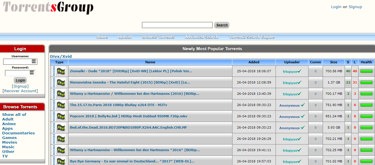 Site torrent
