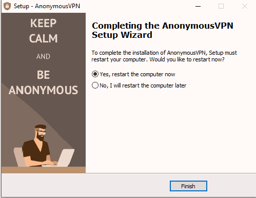 Anonymous VPN easy setup