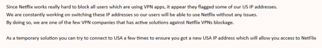 Anonymous VPN Netflix doesn't work