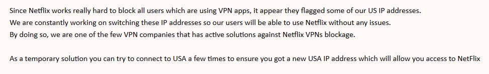 Anonymous VPN Netflix doesn't work