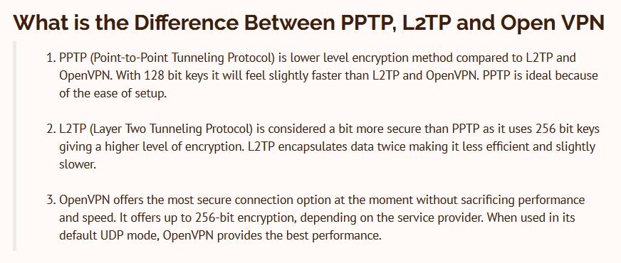 Anonymous VPN Portocols