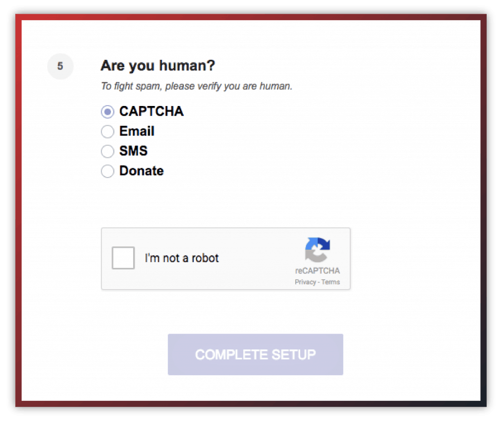 protonmail captcha test
