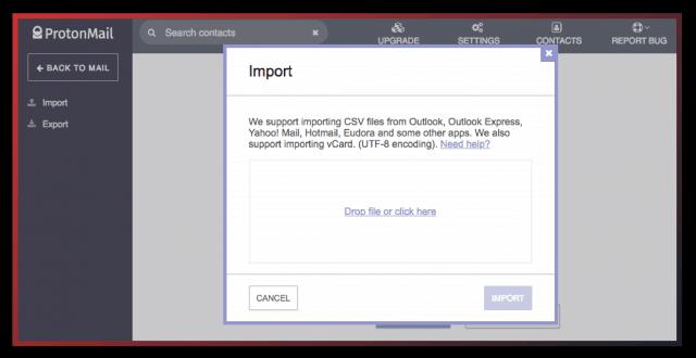 ProtonMail import