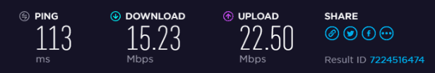 BlackVPN US Speed test