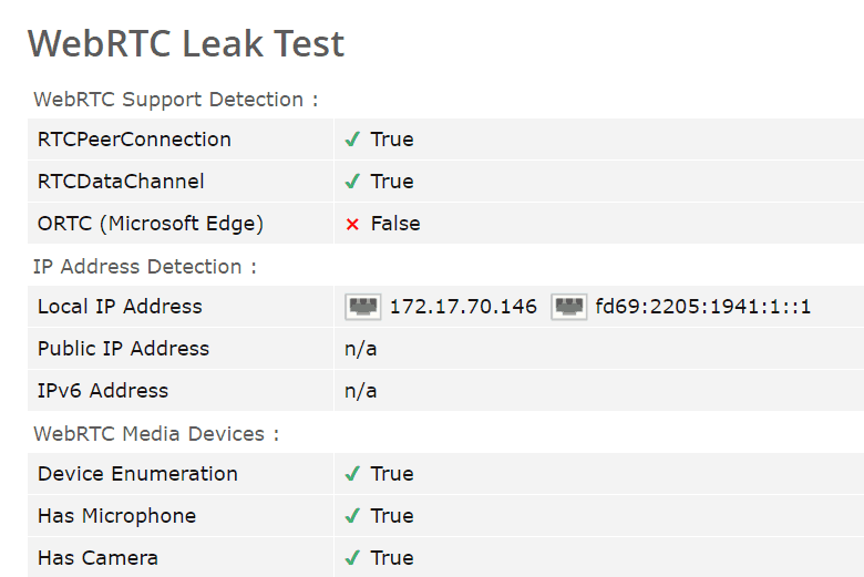BlackVPN WebRTC leak report
