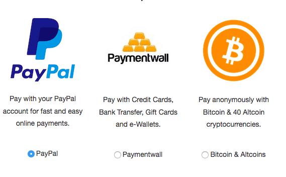 BlackVPN payment options