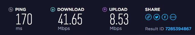 Celo VPN US speed test