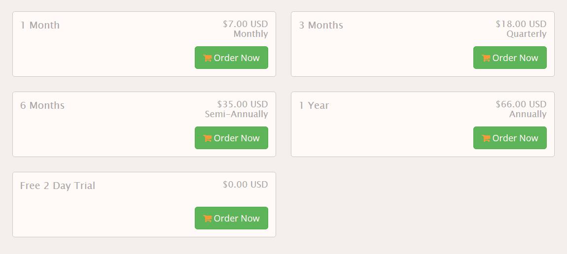 Celo VPN Plans