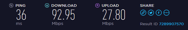 FastestVPN EU speed test