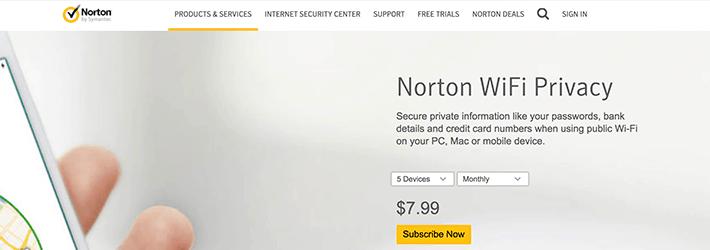 Norton Wi-Fi Privacy VPN