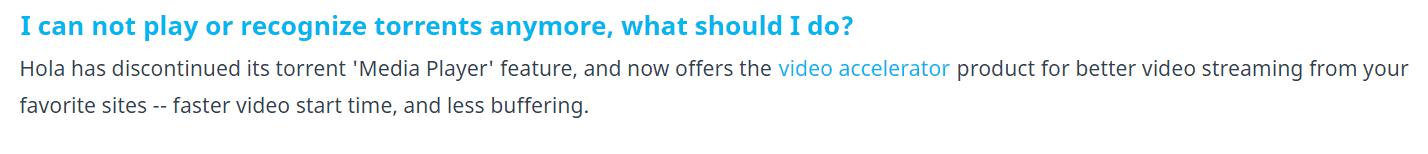Hola VPN torrenting policy