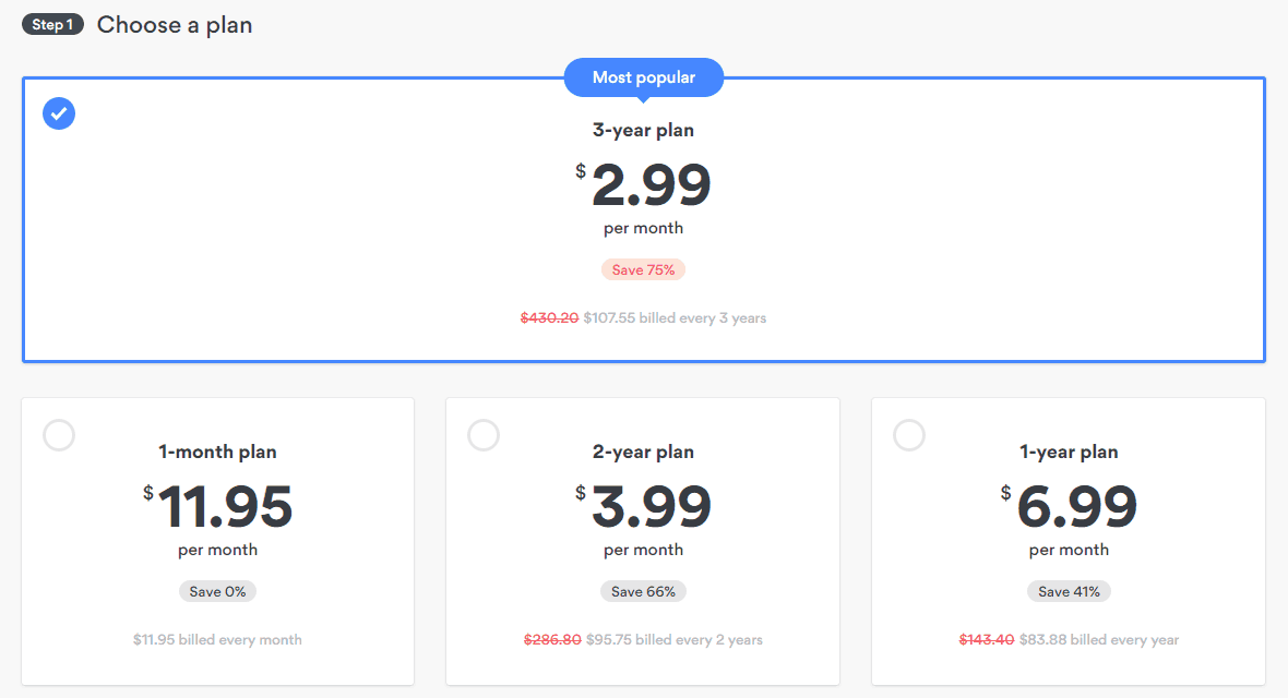 nordvpn pricing options