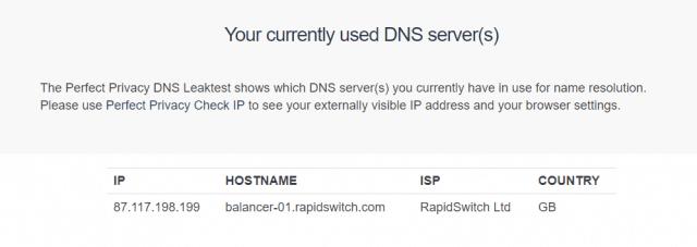 Cactus VPN perfect privacy.com DNS leaktest
