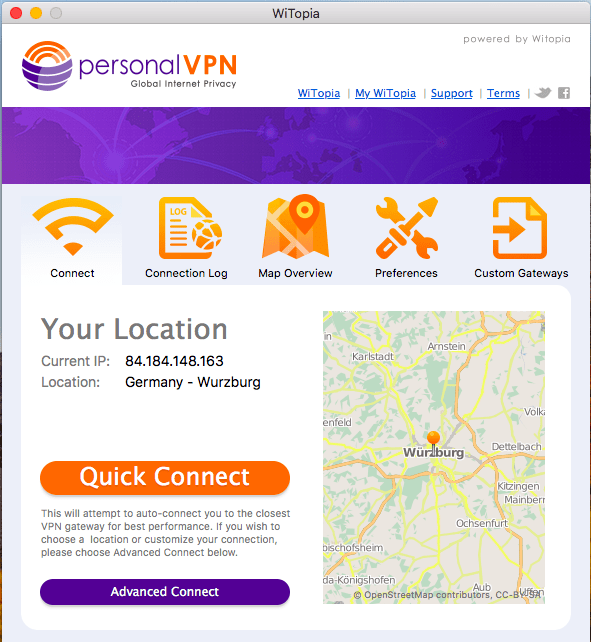 PersonalVPN easy to use
