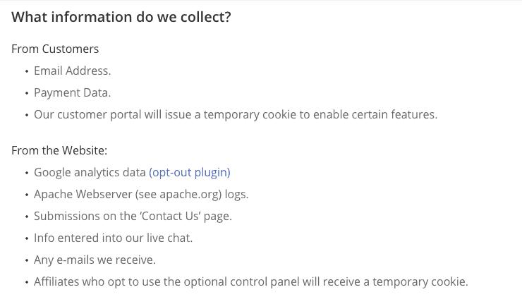 PersonalVPN Privacy Policy