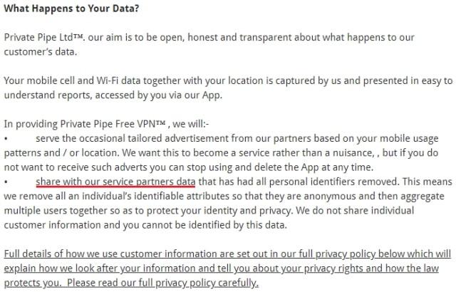 privatepipevpn privacy policy 1