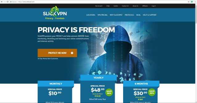 slickvpn review + homepage
