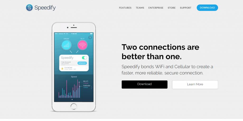 Speedify Homepage