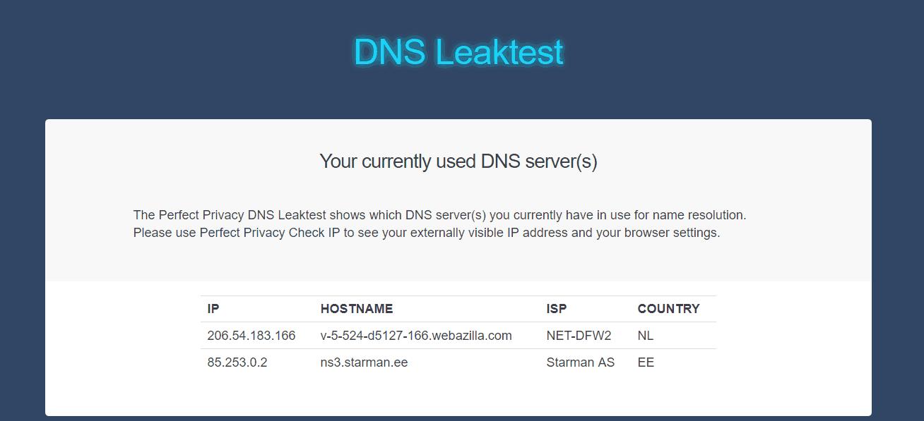 DNS Leak