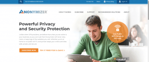anonymizer vpn review