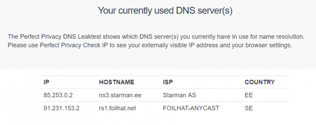 azire leaking DNS servers