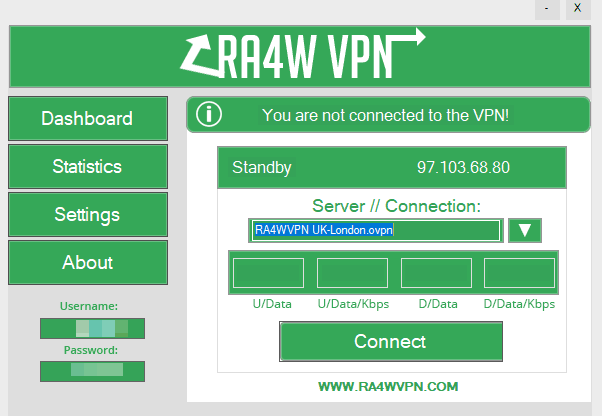 ra4w vpn software on windows
