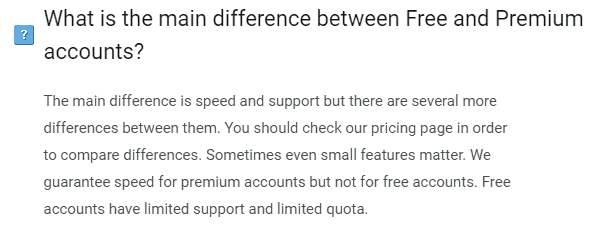 free vs premium accounts
