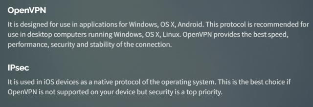 VPN protocols - OpenVPN and IPSec