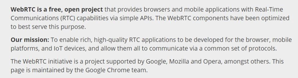 WebRTC initiative