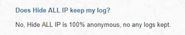 they claim to keep no logs