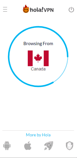 Hola VPN Canada connection