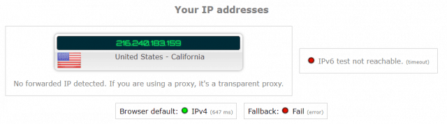 ip address leak test