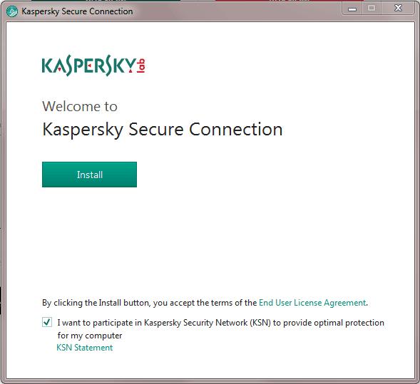 Kaspersky install process