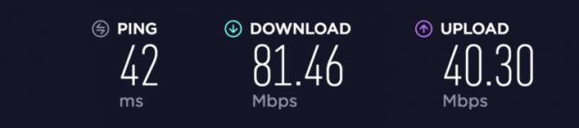 PIA USA speed test
