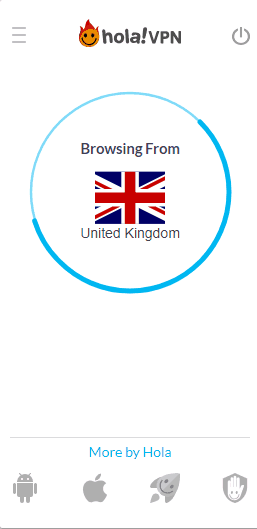 Hola VPN UK connection