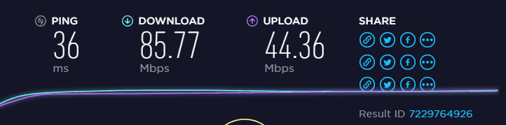EU server upload and download speed