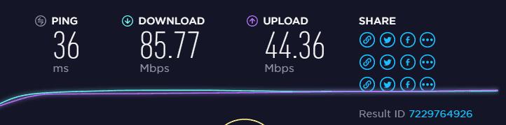 EU server upload and download speed