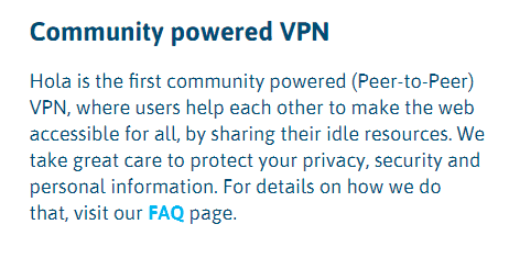 Community powered VPN