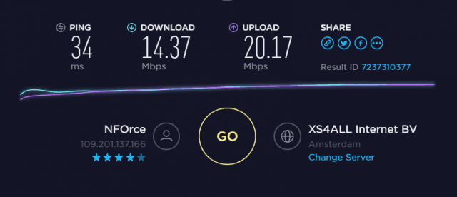 EU Speed test