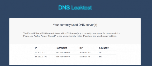 leaking DNS