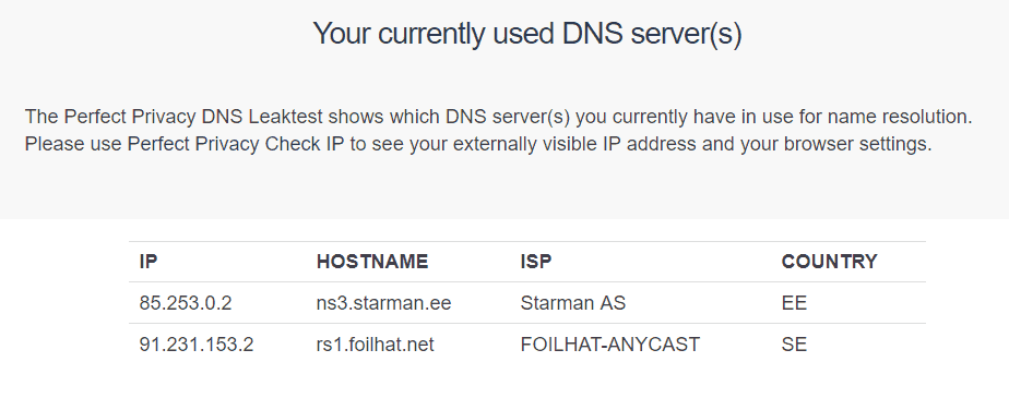 Azire-currently-used-DNS-server