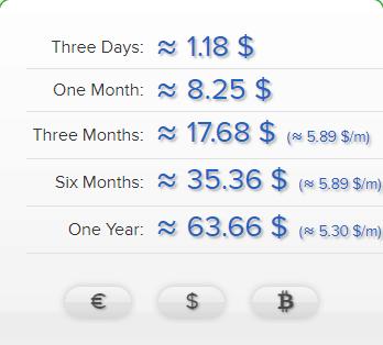 AirVPN pricing tiers