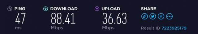 BolehVPN EU speed test results