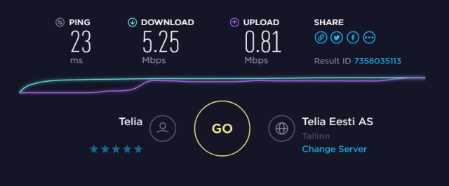 Speedtest without VPN