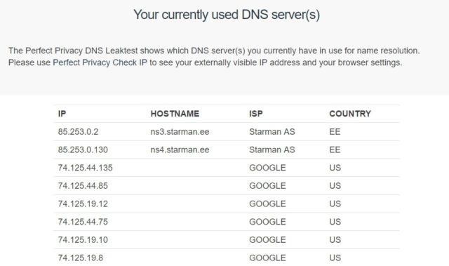 Hola DNS leak